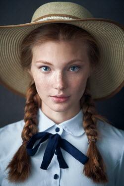 Alexander Vinogradov GIRL WITH PLAITS AND STRAW HAT Women