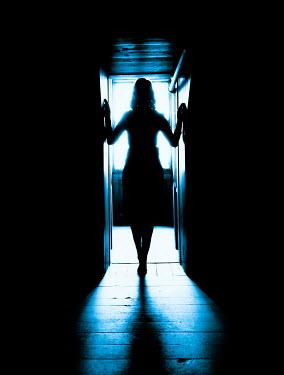 Elisabeth Ansley SILHOUETTED WOMAN INSIDE STANDING IN DOORWAY Women