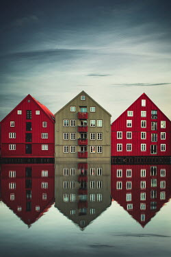 Evelina Kremsdorf APARTMENT BUILDINGS REFLECTED IN STILL WATER Houses