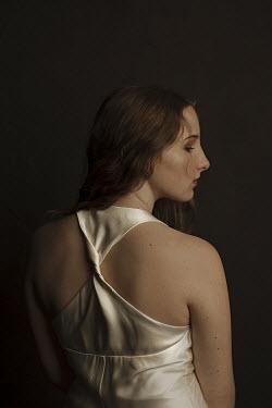 Robin Macmillan Back view of teenage girl in white dress