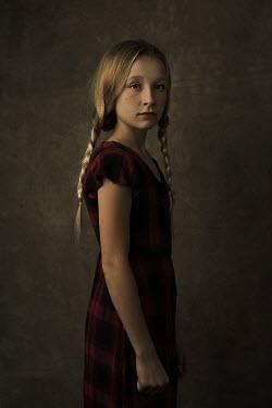Robin Macmillan Girl in red dress