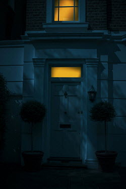 Ildiko Neer Entrance to grand house at evening