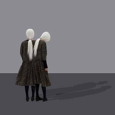 Patty Maher FEMALE TWINS WITH WHITE HAIR WITH SHADOWS Women