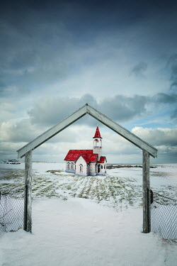 Evelina Kremsdorf REMOTE CHAPEL IN SNOWY LANDSCAPE Religious Buildings