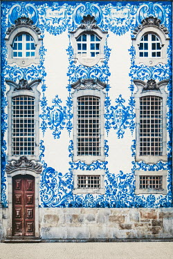 Evelina Kremsdorf EXTERIOR OF HISTORICAL BLUE PATTERNED BUILDING Miscellaneous Buildings