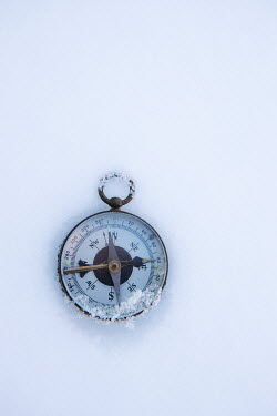 Isabelle Lafrance COMPASS LYING IN SNOW FROM ABOVE Miscellaneous Objects
