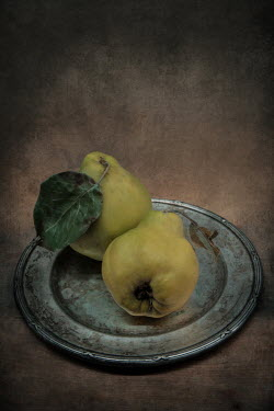 Jaroslaw Blaminsky TWO PEARS ON PEWTER PLATE Miscellaneous Objects