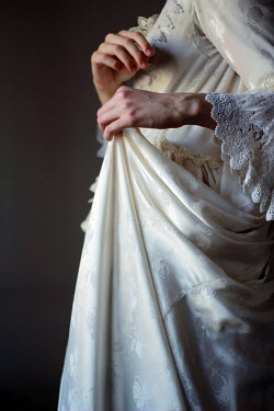 Michalina Wozniak CLOSE UP OF HISTORICAL WOMAN IN WHITE DRESS Women