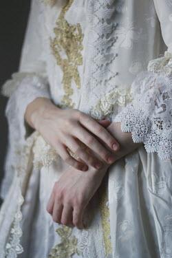 Michalina Wozniak CLOSE UP OF HISTORICAL WOMAN IN WHITE DRESS Women