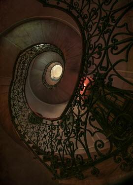 Jaroslaw Blaminsky DECORATIVE SPIRAL STAIRCASE FROM BELOW Stairs/Steps