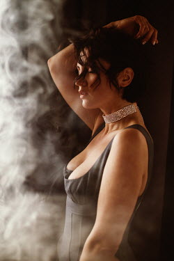 Marta Syrko Young woman in lingerie with smoke