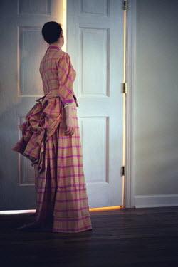 Susan Fox HISTORICAL WOMAN PEEPING FROM BEHIND DOOR Women