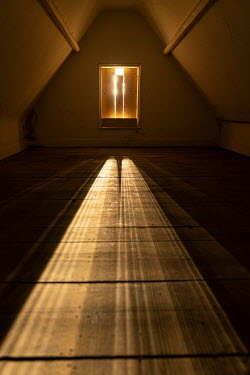 Colin Hutton EMPTY ATTIC WITH SUNLIT FLOOR Interiors/Rooms