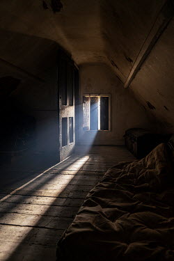 Colin Hutton OLD ATTIC WITH SUNLIT FLOORBOARDS Interiors/Rooms