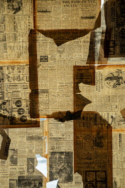 Colin Hutton OLD NEWSPAPERS ON SUNLIT WINDOW Building Detail