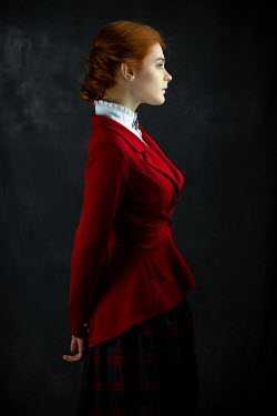 Ildiko Neer Historical woman in red coat