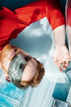 Marta Syrko MAN WITH RED HAIR WITH SUNLIT GLASS Men