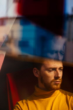 Marta Syrko MAN WITH RED HAIR WITH REFLECTIONS IN WINDOW Men