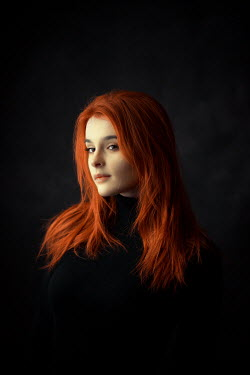 Ildiko Neer Close up of a red hair woman