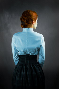 Ildiko Neer Red hair historical woman from behind