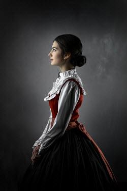 Ildiko Neer Historical woman standing in light