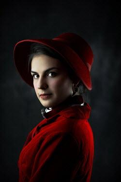 Ildiko Neer Portrait of historical woman in bonnet