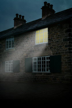Shelley Richmond BEDROOM LIGHT SHINING IN OLD STONE COTTAGE Houses