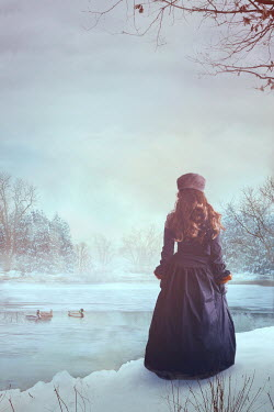 Drunaa Historical woman on frozen lake