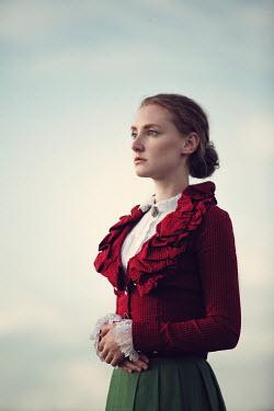 Magdalena Russocka close up of historical woman outside