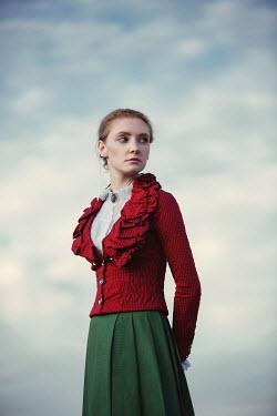 Magdalena Russocka historical woman standing outside