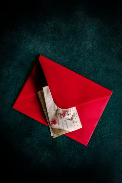 Jane Morley bloody letter in red envelope Miscellaneous Objects
