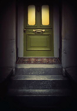 Lyn Randle Steps and green door