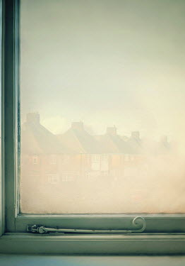 Lyn Randle Window and townhouses in fog