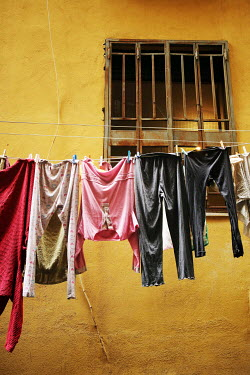 Irene Lamprakou Clothesline outside apartment window Miscellaneous Objects