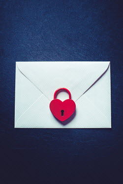Marie Carr RED HEART-SHAPED LOCK ON ENVELOPE Miscellaneous Objects
