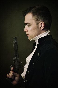 Natasza Fiedotjew Historical man holding powder pistol
