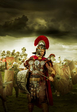 CollaborationJS A roman centurion on the battlefield