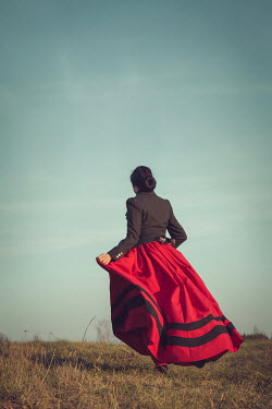 Joanna Czogala HISTORICAL WOMAN RUNNING IN COUNTRYSIDE Women