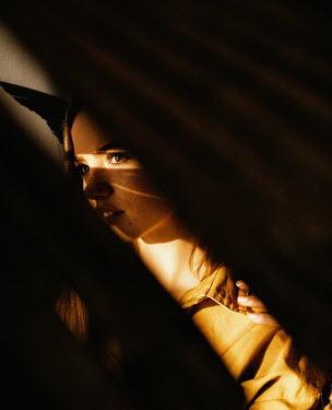 Marta Syrko BRUNETTE GIRL IN SUNLIGHT AND SHADOW Women
