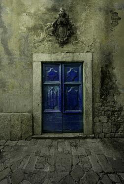 Jaroslaw Blaminsky EXTERIOR OF HISTORICAL BUILDING WITH BLUE DOORS Building Detail