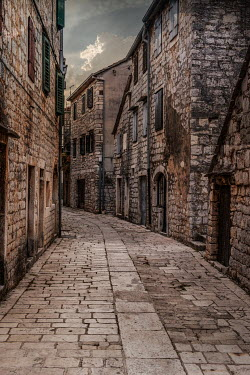 Jaroslaw Blaminsky HISTORICAL STONE BUILDINGS WITH EMPTY STREET Streets/Alleys
