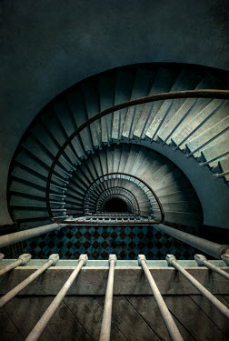 Jaroslaw Blaminsky TALL SPRIAL STAIRCASE FROM ABOVE Stairs/Steps