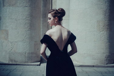 Irina Orwald Young woman with backless dress