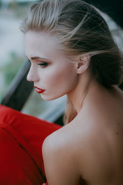 Irina Orwald Young woman in backless dress