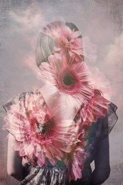 Erika Masterson Double exposure of young woman and flowers