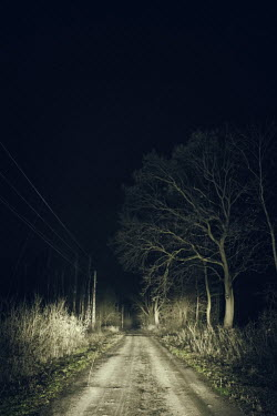 Magdalena Russocka empty country road at night Paths/Tracks