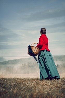 Magdalena Russocka historical woman standing on hill