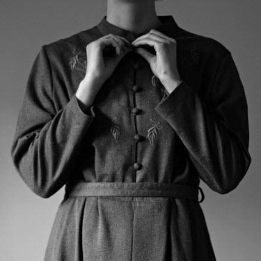 Michalina Wozniak WOMAN STANDING BUTTONING DRESS Women
