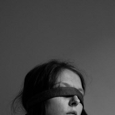 Michalina Wozniak CLOSE UP OF BLINDFOLDED WOMAN Women