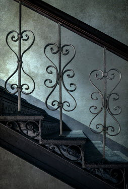 Jaroslaw Blaminsky CLOSE UP OF DECORATIVE METAL STAIRCASE Stairs/Steps